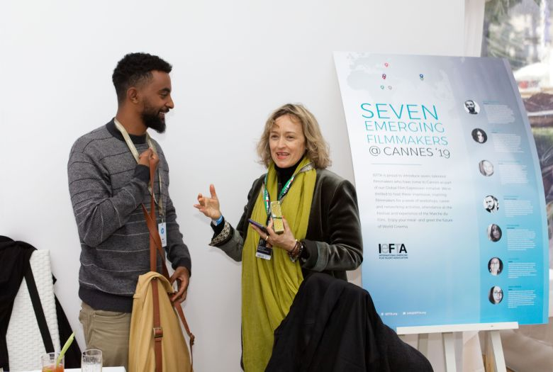 Beza Hailu Lemma with Alessandra Speciale from the Venice Film Festival