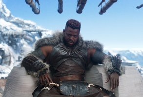 """Editorial use only. No book cover usage.Mandatory Credit: Photo by Marvel/Disney/Kobal/REX/Shutterstock (9360960at)Winston Duke""""Black Panther"""" Film - 2018"""
