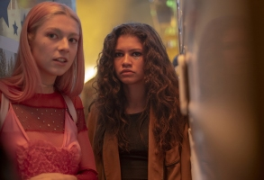 "Hunter Schafer and Zendaya in ""Euphoria"" HBO"