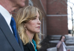 US actress Felicity Huffman leaves the John J Moakley Federal Court House after facing charges in a nationwide college admissions cheating scheme in Boston, Massachusetts, USA 03 April 2019.Felicity Huffman facing charges in a nationwide college admissions cheating scheme, Boston, USA - 03 Apr 2019