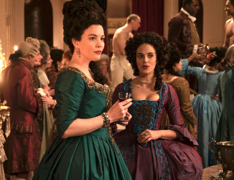 "Liv Tyler and Jessica Brown-Findlay, ""Harlots"""