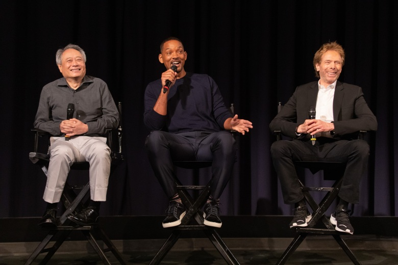Ang Lee, Will Smith and Jerry Bruckheimer during the Gemini Man Press Day on Tuesday, July 23, 2019 in Hollywood, CA (photo: Alex J. Berliner/ABImages)