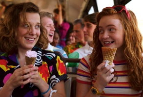 "Millie Bobby Brown and Sadie Sink, ""Stranger Things"""