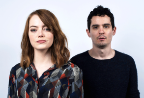 Emma Stone and Damien Chazelle