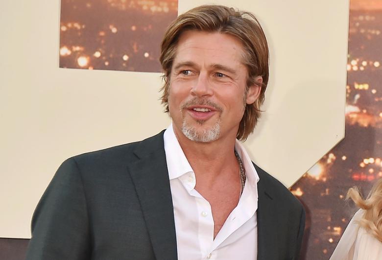 Brad Pitt - 2020 Dark blond hair & casual hair style.