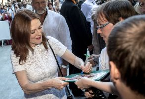 Julianne Moore signs autographs as she arrives for a photocall for the movie 'After the wedding' at the 54th Karlovy Vary International Film Festival, in Karlovy Vary, Czech Republic, 29 June 2019. The festival runs from 28 June to 06 July.54th Karlovy Vary Film Festival, Czech Republic - 29 Jun 2019