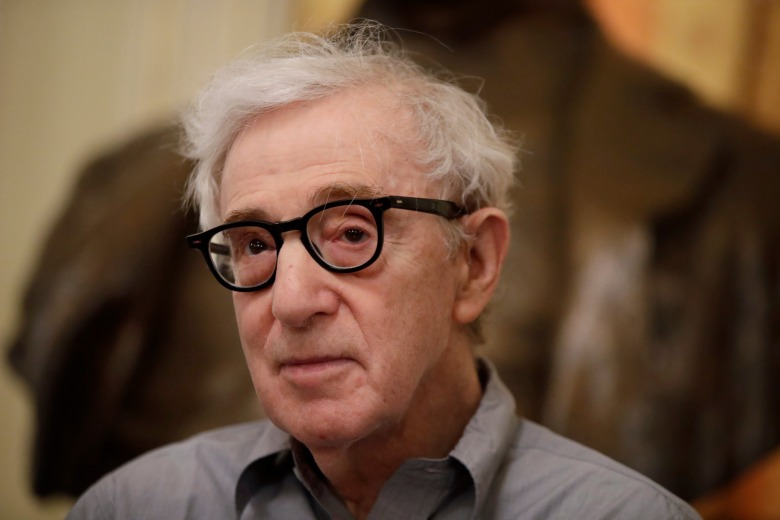 Director Woody Allen attends a press conference at La Scala opera house, in Milan, Italy,. Woody Allen is directing Puccini's ' Gianni Schicchi ' opera, which opens Saturday in Milan. The opera premiered in Los Angeles and it's making its debut at La ScalaLa Scala Woody Allen, Milan, Italy - 02 Jul 2019