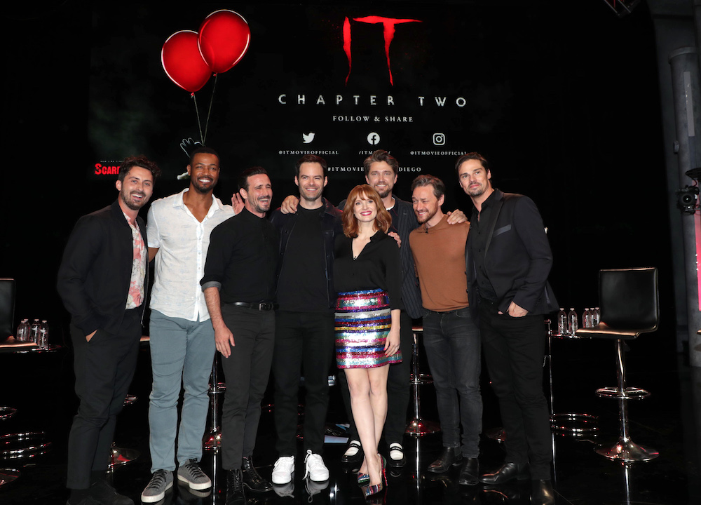 Andy Bean, Isaiah Mustafa, James Ransone, Bill Hader, Jessica Chastain, Andy Muschietti, Director, James McAvoy, Jay RyanNew Line Cinema's 3rd annual ScareDiego presents IT CHAPTER TWO at San Diego Comic-Con 2019, San Diego, USA - 17 July 2019
