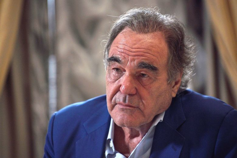 MANDATORY CREDITMandatory Credit: Photo by ALEXEY DRUZHINYN/SPUTNIK/KREMLIN POOL/EPA-EFE/Shutterstock (10342186b)Oliver Stone interviews Russian President Vladimir Putin for his Revealing Ukraine documentary at the Kremlin in Moscow, Russia, late 19 July 2019.US film director Oliver Stone interviews Vladimir Putin, Moscow, Russian Federation - 19 Jul 2019
