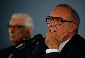 Director of the Venice Film Festival, Alberto Barbera, right, and Venice Biennale President Paolo Baratta meet the journalists on the occasion of the official presentation of the 76th edition of the festival in Rome, . The Venice Film Festival will run from Aug. 28 through Sept. 7, 2018, at the Venice LidoVenice FIlm Festival, Rome, Italy - 25 Jul 2019