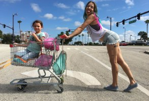 Editorial use only. No book cover usage.Mandatory Credit: Photo by Moviestore/Shutterstock (9227612a)Brooklynn Prince, Bria VinaiteThe Florida Project - 2017