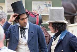 Dev Patel and Aneurin Barnard'The Personal History of David Copperfield' on set filming, King's Lynn, Norfolk, UK - 20 Jul 2018Actor Dev Patel was spotted about to get in a fight with a local market trader as he played David Copperfield in a new costume drama yesterday (Fri). The 28-year-old Slumdog Millionaire star was seen walking through the docks at King's Lynn in Norfolk, which were transformed into a Victorian fish market.He was accompanied by Dunkirk actor Aneurin Barnard, who plays his friend Steerforth in The Personal History of David Copperfield. Barnard was seen trying to talk Dev out of the fight as they filmed the movie and did a number of takes yesterday afternoon.