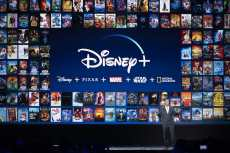 Kevin Mayer, Disney's chairman of direct-to-consumer products, at D23. Disney+