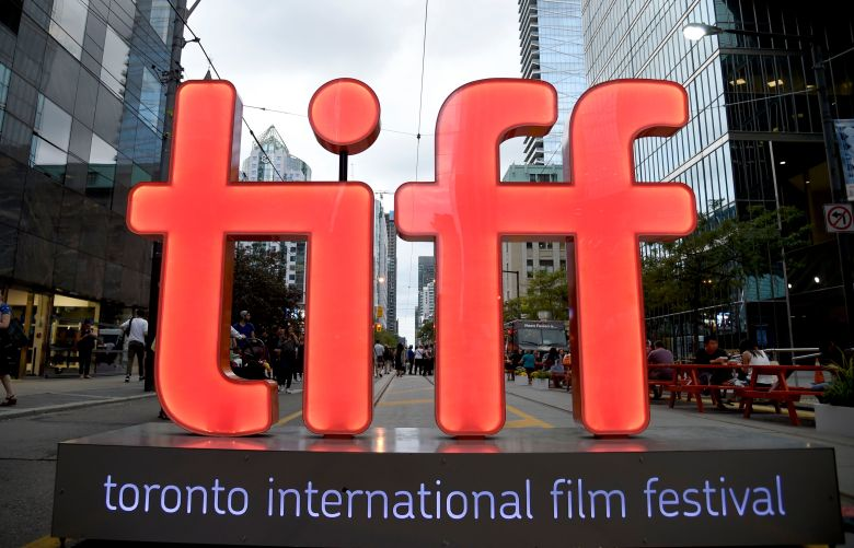 A view of a festival sign appears on day 1 of the Toronto International Film Festival, in Toronto2018 TIFF, Toronto, Canada - 06 Sep 2018