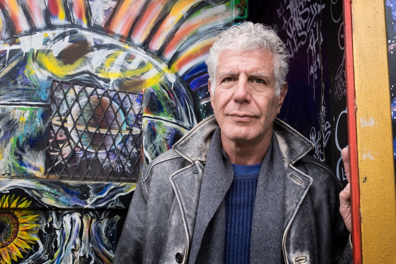 "NEW YORK, NEW YORK - APR 1: Anthony Bourdain explores the Lower Eastside of New York City, New York on April 1, 2018.  (photo by David Scott Holloway)  ""Parts Unknown -  Lower Eastside""   25219_031"