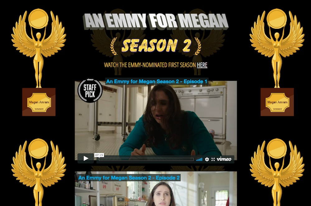 "Megan Amram in ""An Emmy for Megan"" Season 2 website AnEmmyForMegan.com"