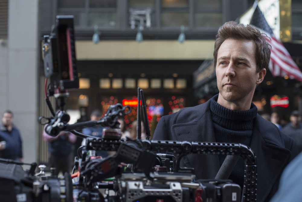 """Actor/Writer/Director/Producer EDWARD NORTON on the set of Warner Bros. Pictures' drama """"MOTHERLESS BROOKLYN,"""" a Warner Bros. Pictures release."""