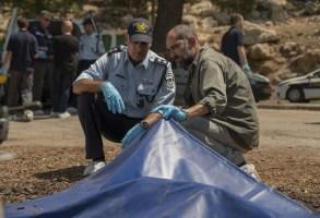 "Shlomi Elkabetz and Tzahi Grad in ""Our Boys"" HBO"