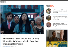 indiewire homepage