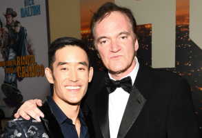 Mike Moh and Quentin Tarantino