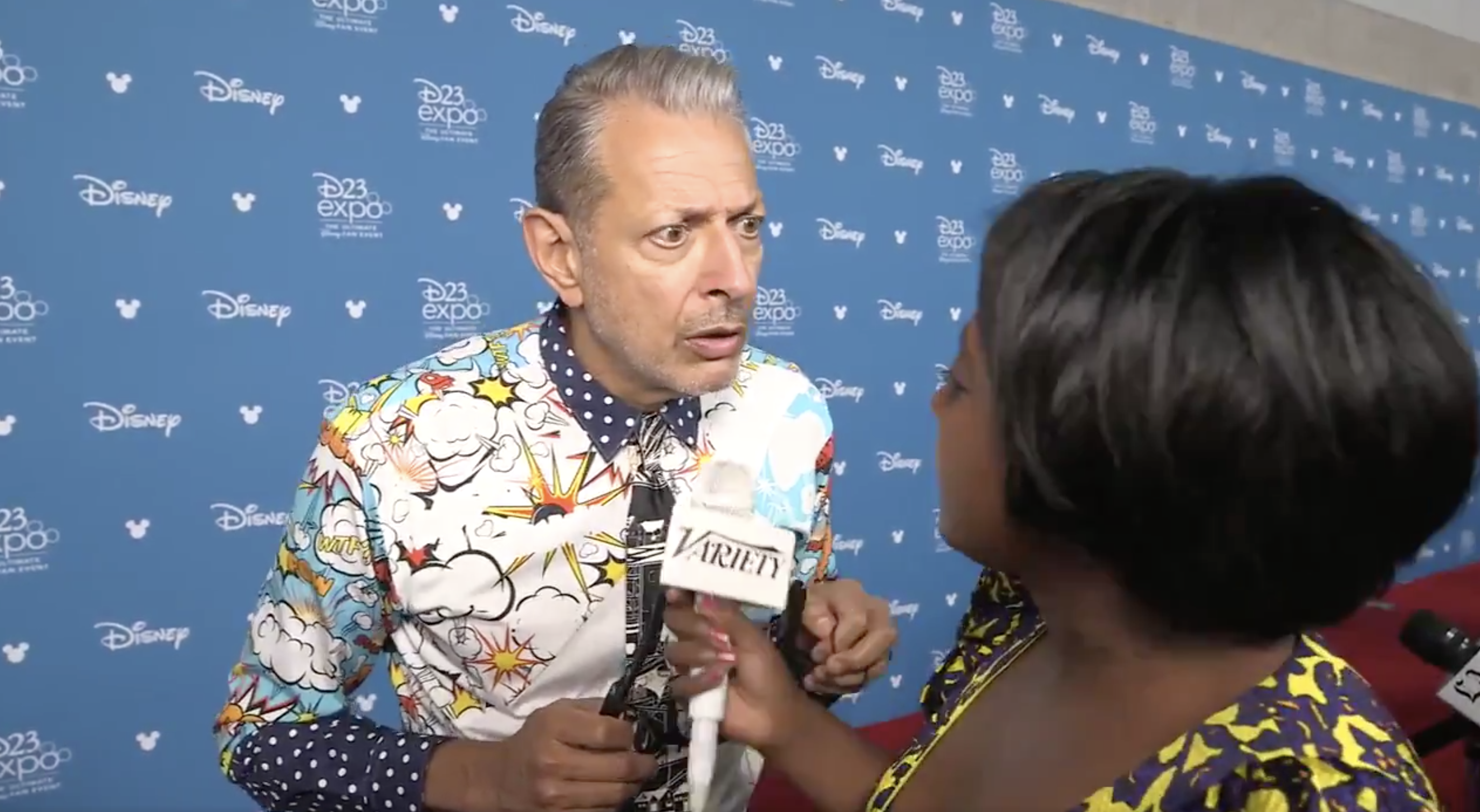 Jeff Goldblum Is Totally Perplexed About Recent Spider-Man Controversy in Hilarious D23 Interview