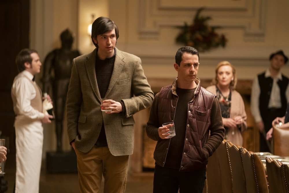 """Nicholas Braun and Jeremy Strong in """"Succession"""" Season 2 Episode 3"""