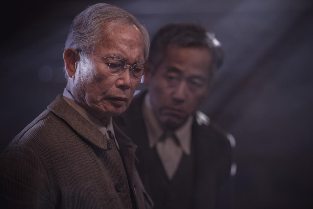 George Takei as Yamato-San, Shingo Usami as Henry Nakayama - The Terror _ Season 2 - Photo Credit: Ed Araquel/AMC