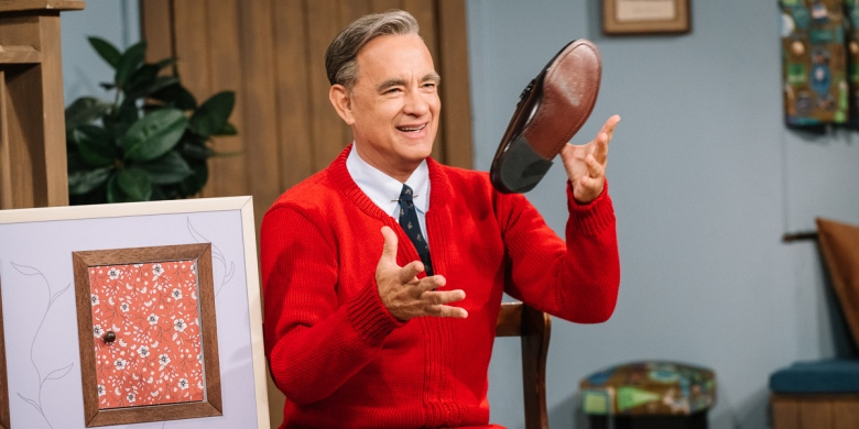 Tom Hanks stars as Mister Rogers in TriStar Pictures' A BEAUTIFUL DAY IN THE NEIGHBORHOOD.  Photo by: Lacey Terrell