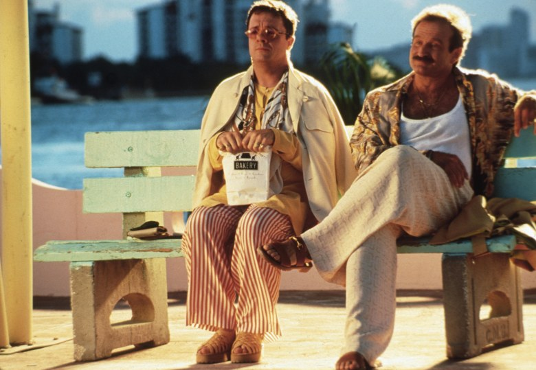 Editorial use only. No book cover usage.Mandatory Credit: Photo by Lorey Sebastian/United Artists/Kobal/Shutterstock (5880005e)Nathan Lane, Robin WilliamsThe Birdcage - 1996Director: Mike NicholsUnited ArtistsUSAScene StillComedy
