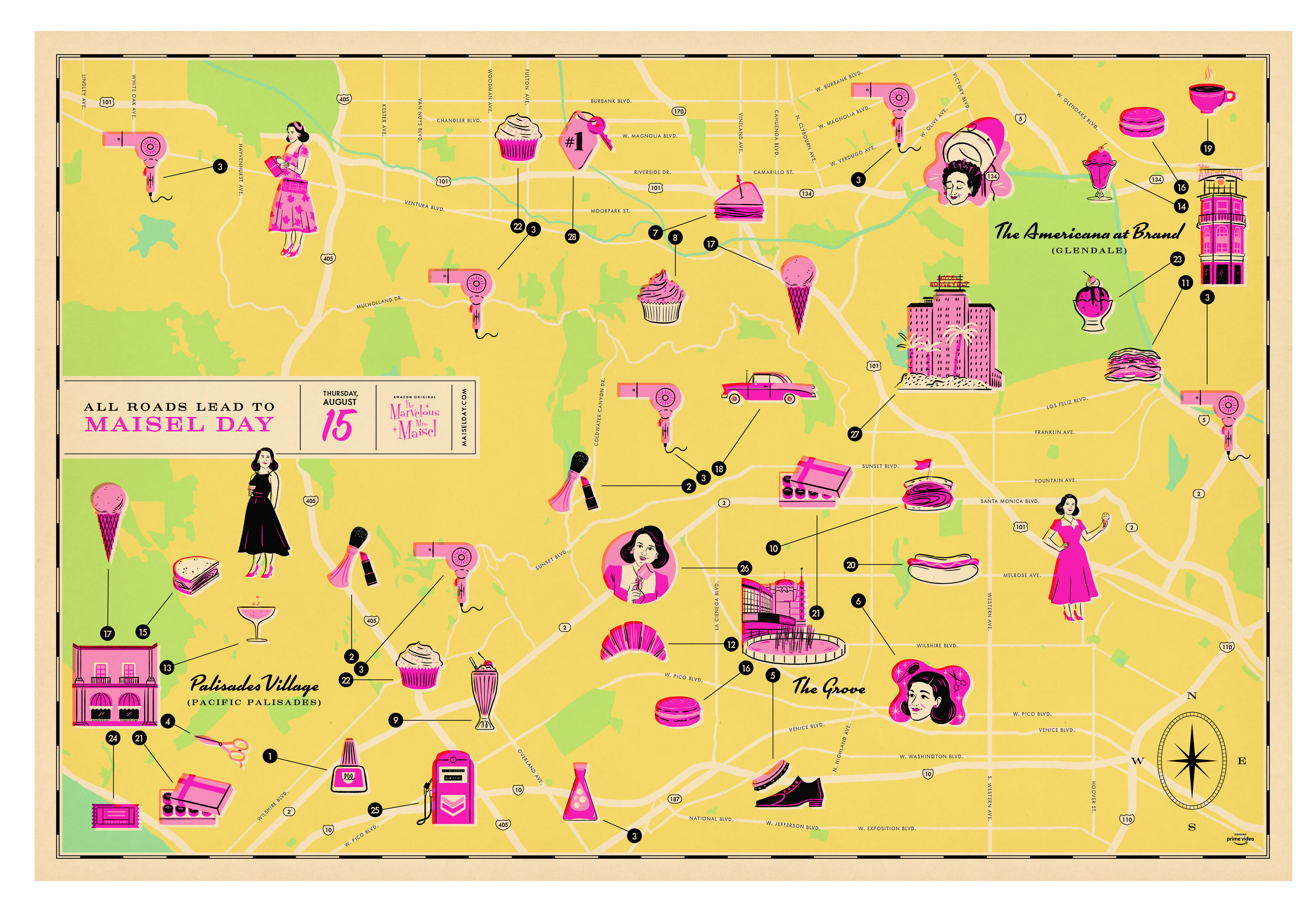 Maisel Day map