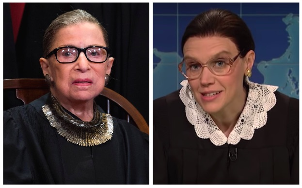 Ruth Bader Ginsburg Had a Surprise Meeting With Her 'SNL' Alter-Ego Kate McKinnon