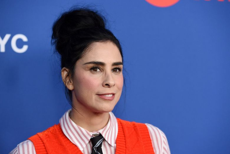 "Moderator Sarah Silverman poses before an Emmy For Your Consideration event for the Showtime series ""Who Is America?"" at Paramount Studios, in Los Angeles""Who is America?"" FYC Event, Los Angeles, USA - 15 May 2019"
