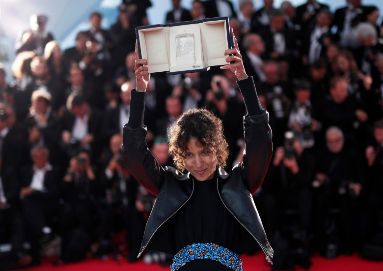 Mati Diop poses with her Grand Prize of the Festival for her movie 'Atlantique' (Atlantics) during the Award Winners photocall at the 72nd annual Cannes Film Festival, in Cannes, France, 25 May 2019.Award Winners Photocall - 72nd Cannes Film Festival, France - 25 May 2019