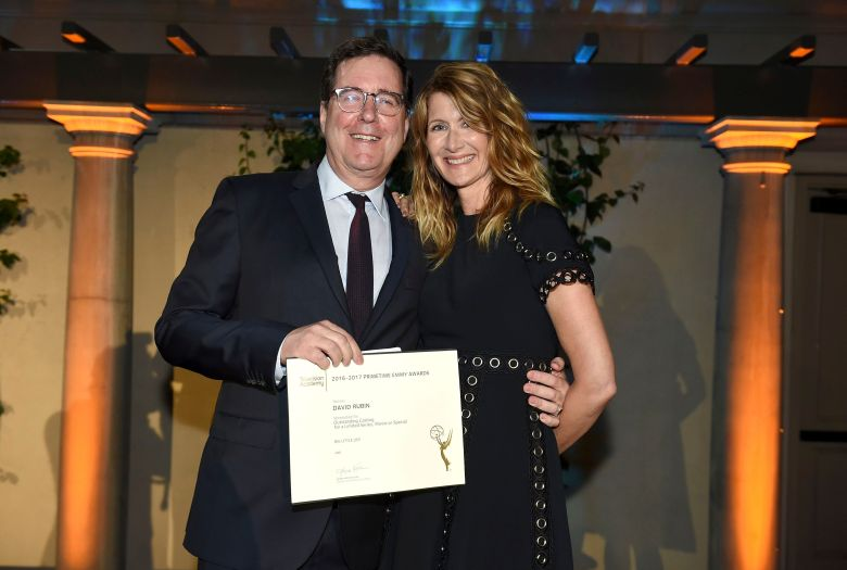Laura Dern, David Rubin. David Rubin, Emmy nominee for Outstanding Casting For A Limited Series, Movie or Special for 'Big Little Lies', left, and Laura Dern at The Television Academy's Casting Directors Nominee Reception at The Montage Beverly Hills, in Beverly Hills, Calif2017 Casting Directors Nominee Reception presented by the Television Academy, Beverly Hills, USA - 07 Sep 2017