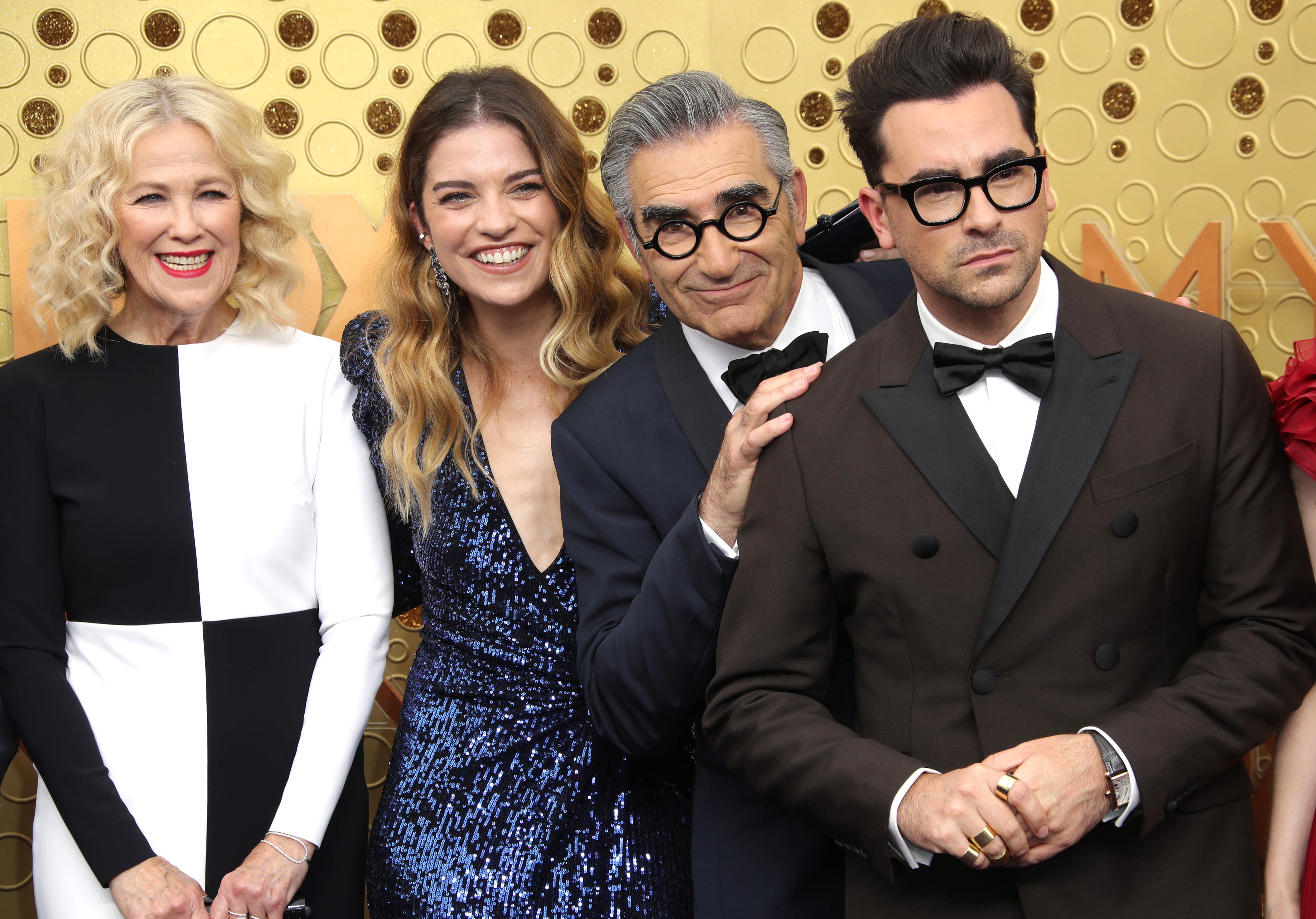 Catherine O'Hara, Annie Murphy, Eugene Levy and Daniel Levy71st Annual Primetime Emmy Awards, Arrivals, Microsoft Theatre, Los Angeles, USA - 22 Sep 2019