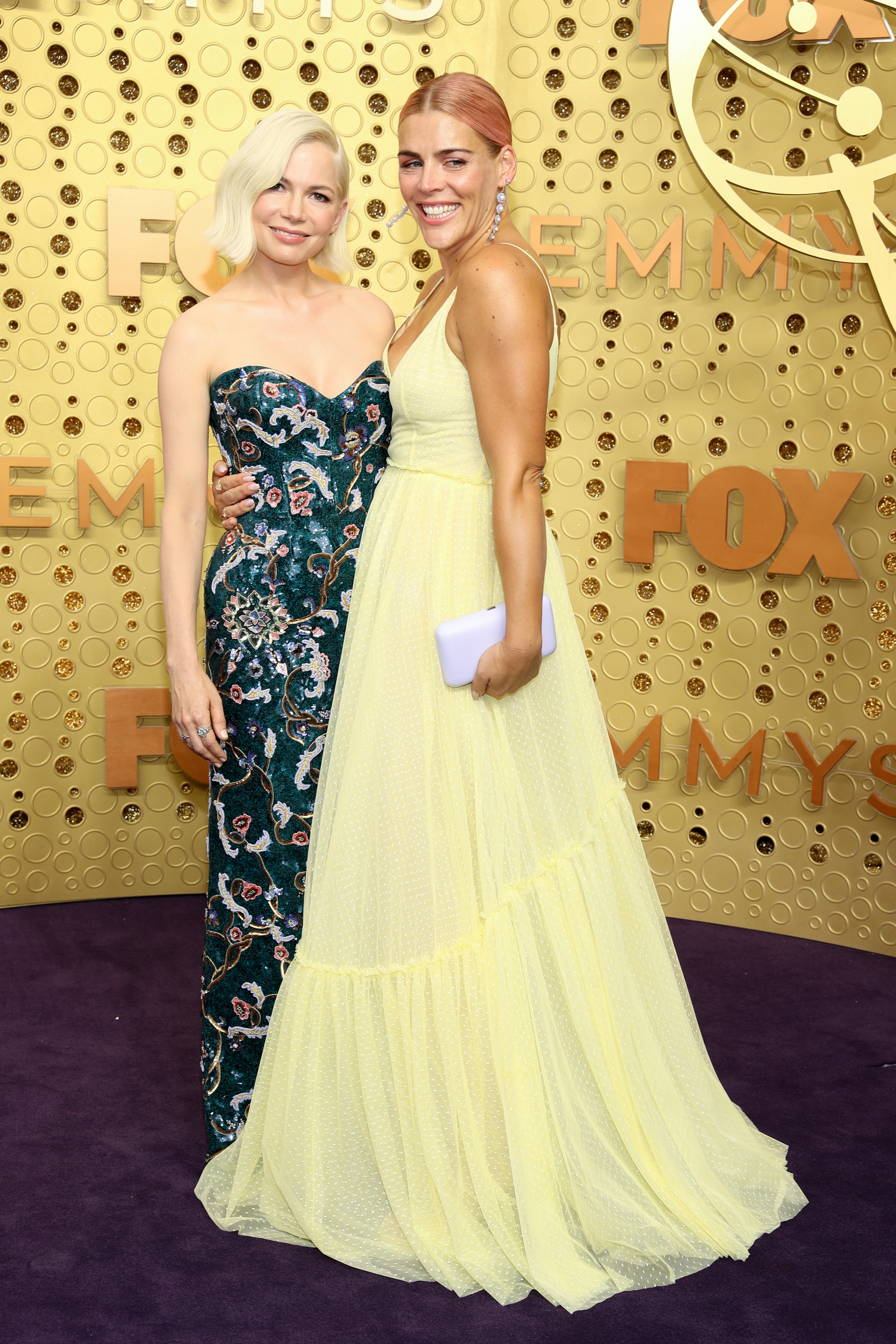 Michelle Williams and Busy Philipps71st Annual Primetime Emmy Awards, Arrivals, Microsoft Theatre, Los Angeles, USA - 22 Sep 2019