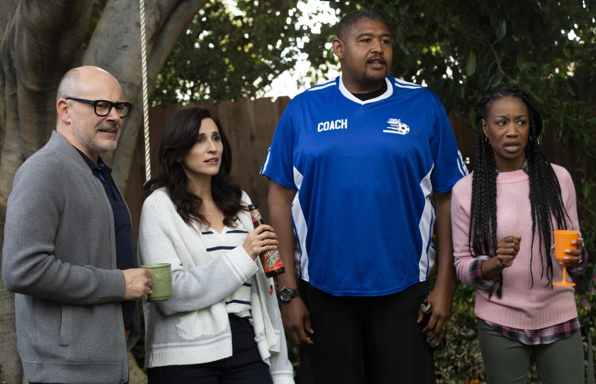 The Unicorn cast CBS Rob Corddry, Michaela Watkins , Omar Miller, Maya Lynne Robinson