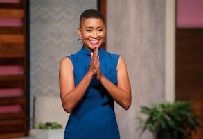 TCM host Jacqueline Stewart photographed on the TCM set on Tuesday & Wednesday, August 20-21, 2019 in Atlanta, Ga.  Photo by John Nowak