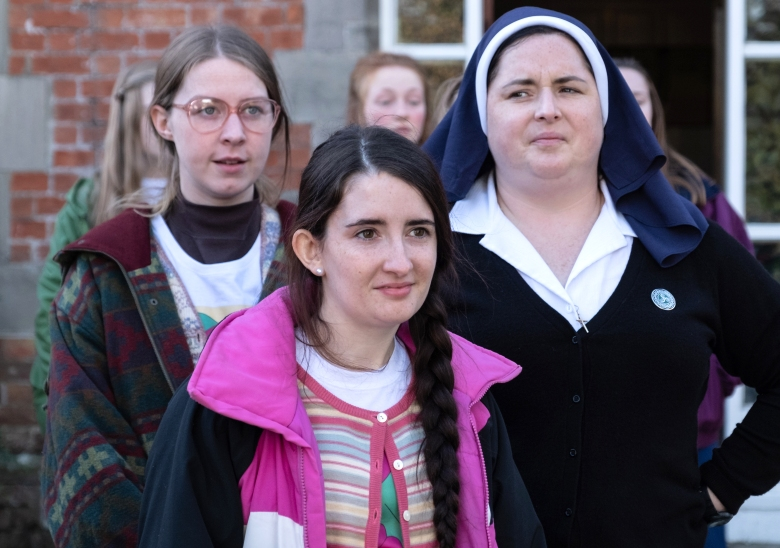 "Beccy Henderson (left), ""Derry Girls"""