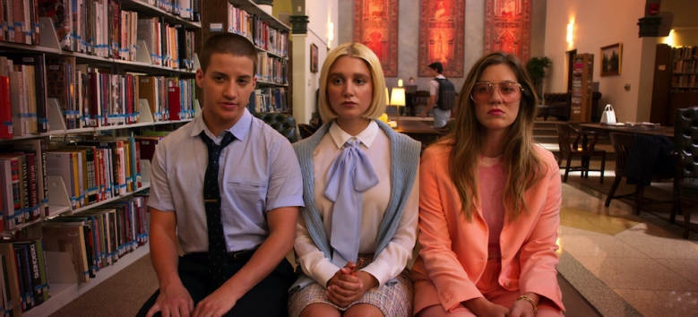 """THE POLITICIAN Theo Germaine, Julia Schlaepfer, and Laura Dreyfuss in """"The Politician"""""""