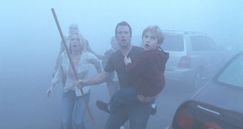 Editorial use only. No book cover usage.Mandatory Credit: Photo by Dimension Films/Kobal/Shutterstock (5884136x) The Mist (2007) The Mist - 2007 Director: Frank Darabont Dimension Films USA Scene Still Late Night