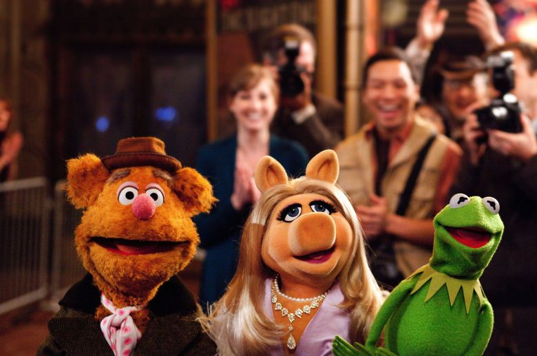 "Fozzie Bear, Miss Piggy, and Kermit the Frog, ""The Muppets"""