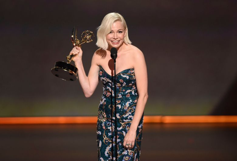 "Michelle Williams accepts the award for outstanding lead actress in a limited series or movie for ""Fosse/Verdon"" at the 71st Primetime Emmy Awards, at the Microsoft Theater in Los Angeles71st Primetime Emmy Awards - Show, Los Angeles, USA - 22 Sep 2019"