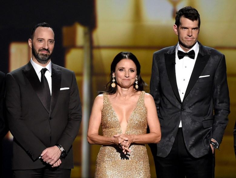 Julia Louis-Dreyfus, Tony Hale and Timothy Simons71st Annual Primetime Emmy Awards, Show, Microsoft Theatre, Los Angeles, USA - 22 Sep 2019