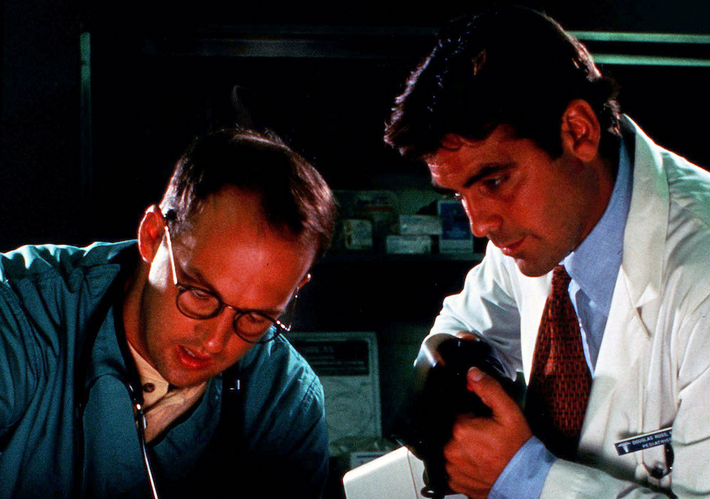 Editorial use only. No book cover usage.Mandatory Credit: Photo by Warner Bros Tv/Amblin Tv/Kobal/Shutterstock (5885629a)Anthony Edwards, George ClooneyEr Emergency Room - 1994Warner Bros TV/Amblin TVUSA