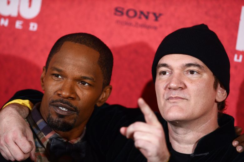 Us Actor Jamie Foxx (l) and Us Director Quentin Tarantino (r) Pose at a Photocall For Their New Movie 'Django Unchained' in Berlin Germany 08 January 2013 the Movie Will Be Released in German Cinemas on 17 January Germany BerlinGermany Cinema - Jan 2013