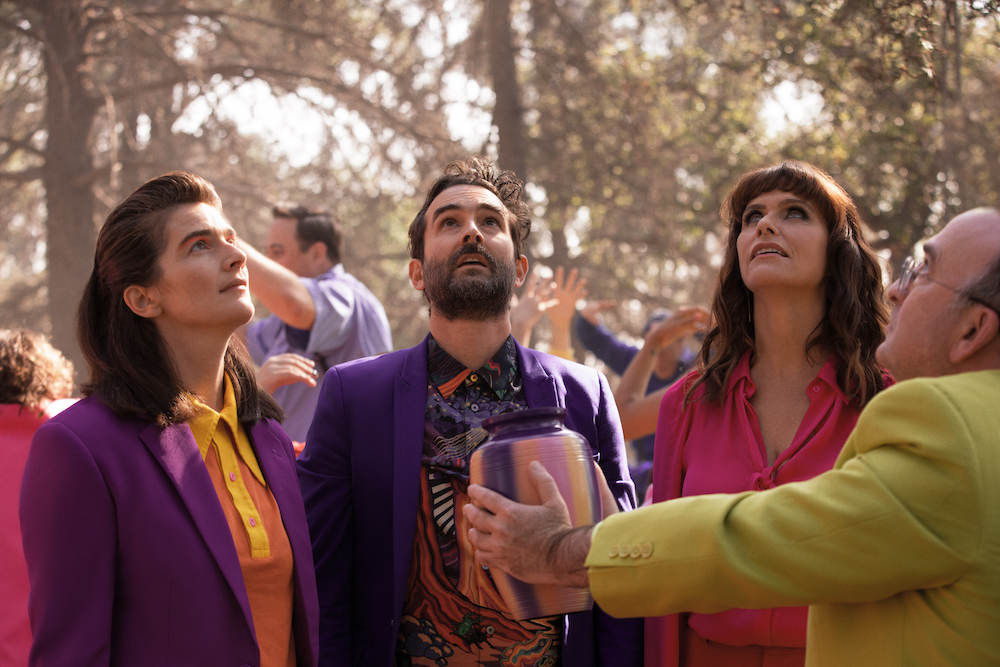 """Gaby Hoffman, Jay Duplass, and Amy Landecker in """"Transparent"""" finale"""
