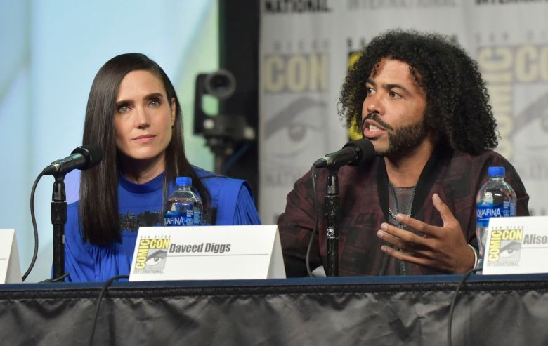 "Jennifer Connelly, Daveed Diggs. Jennifer Connelly, left, and Daveed Diggs participate in the ""Snowpiercer"" panel on day three of Comic-Con International, in San Diego2019 Comic-Con - ""Snowpiercer"" Panel, San Diego, USA - 20 Jul 2019"