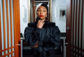 "Cynthia Erivo poses for a portrait at the Shangri-La Hotel to promote the film ""Harriet"" during the Toronto International Film Festival, in Toronto2019 TIFF - ""Harriet"" Portrait Session, Toronto, Canada - 10 Sep 2019"