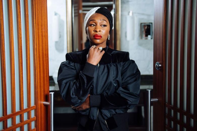 """Cynthia Erivo poses for a portrait at the Shangri-La Hotel to promote the film """"Harriet"""" during the Toronto International Film Festival, in Toronto2019 TIFF - """"Harriet"""" Portrait Session, Toronto, Canada - 10 Sep 2019"""